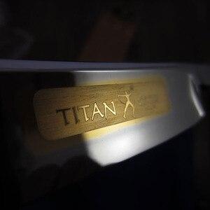 Image 2 - Cuchilla de afeitar Titan, mango de madera, hoja de acero inoxidable afilada, envío gratis