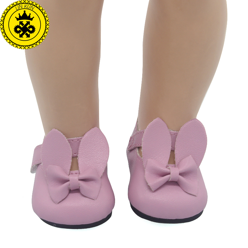 American Girl Doll Shoes Fits 18 inch Doll Patent Leather Shoes With Bow Doll Accessories 12