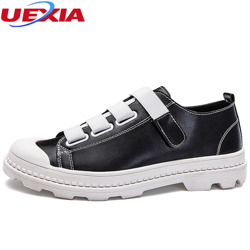 UEXIA Men Leather Shoes Luxury Brand Comfortable Male Fashion Flats Derby Oxford Shoes Man Causal Footwear Comfortatble Footwear
