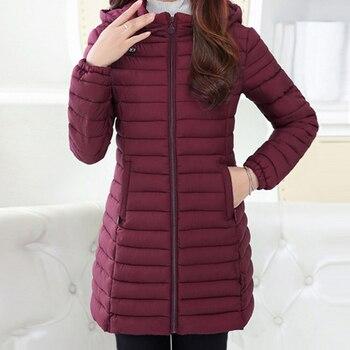 adadc5c00a5 Chaqueta de Invierno para mujer 2018 invierno y otoño ropa Parkas de alta  calidad chaquetas de invierno abrigos largos para mujer talla grande