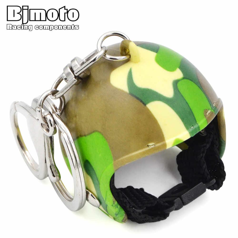 BJMOTO мотоциклетные шлемы брелок для ключей для женщин и мужчин милый защитный шлем Автомобильный Брелок Сумочка горячее кольцо для ключей для Kawasaki Honda Yamaha