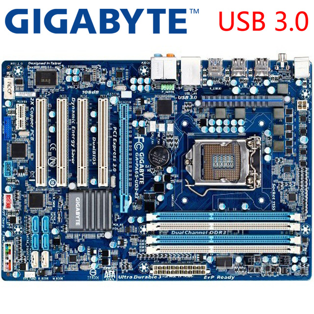 Free shipping original motherboard for Gigabyte GA-PA65-UD3-B3 LGA 1155 DDR3 16GB USB2.0 PA65-UD3-B3 H61 Desktop motherboard