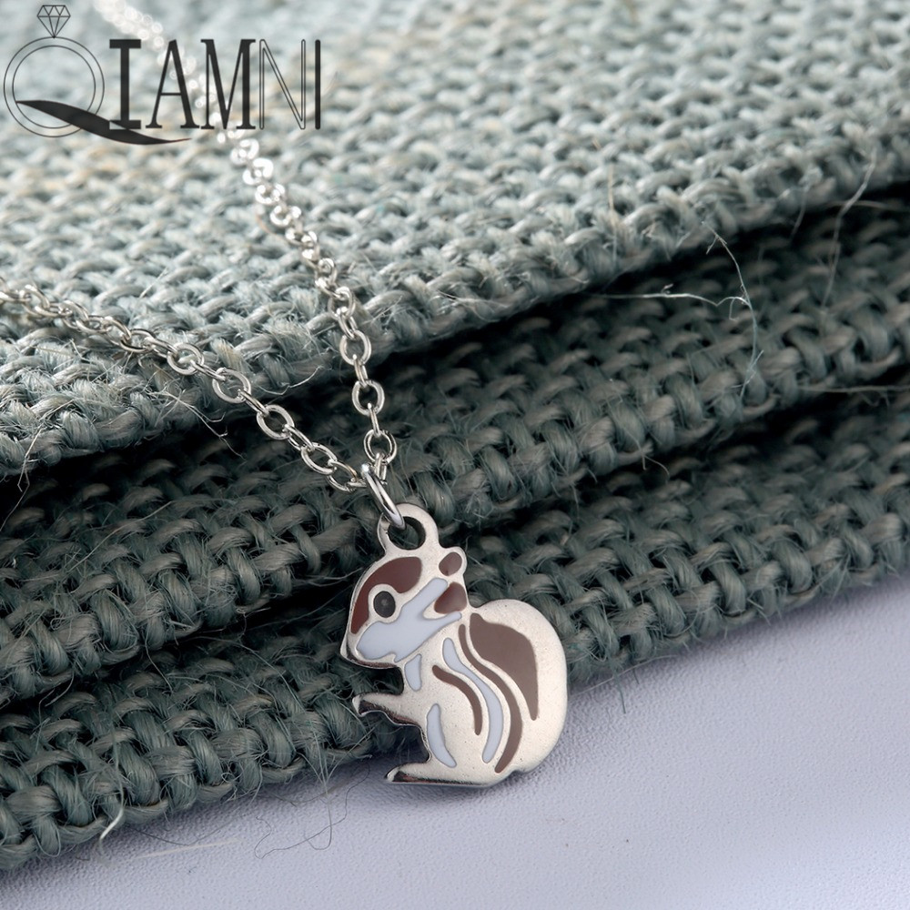 QIAMNI-Squirrel-Animal-Chain-Collar-Choker-Pendant-Necklace-Birthday-Gift-Women-Girls (2)_