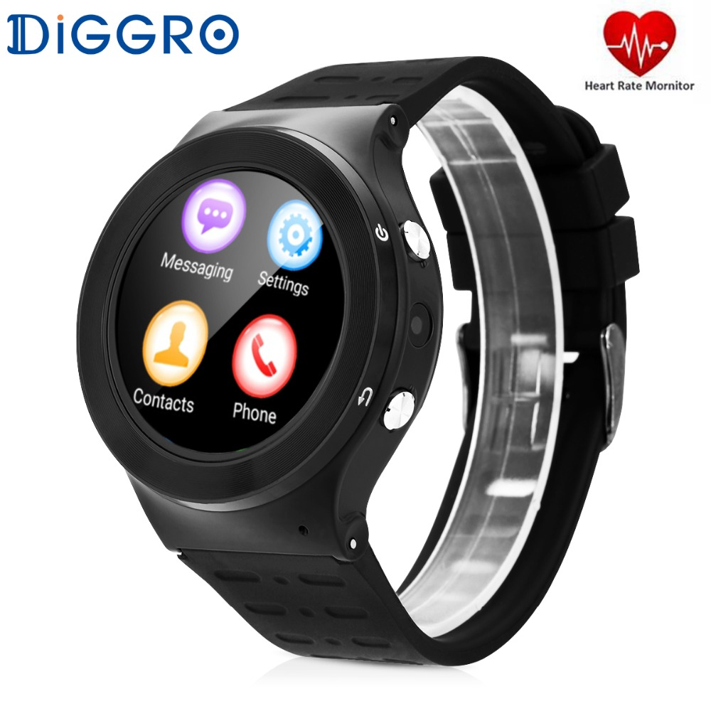 Diggro S99 Smart Watch Phone with SIM Card Android HD Display Smartwatch with Camera 3G Wifi Heart Rate Monitor Fitness Tracker 3g smart watch phone sim card bluetooth android 5 1 smartwatch heart rate monitor with camera wifi wcdmn gps tracker pk d5 x3