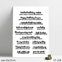 ZhuoAng Heartfelt Birthday Blessing Clear Stamps/Seals For DIY Scrapbooking/Card Making/Album Decorative Silicon Stamp Crafts