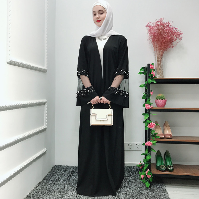 Ramadan Black Abaya Robe Femme Kimono Muslim Hijab Dress Jilbab Caftan Kaftan Dubai Abayas For Women