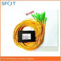 FTTH accessories In Line SC/APC 1x16 PLC Splitter, ABS packing, with SC/APC connectors, SM, 2.0mm, 1M length