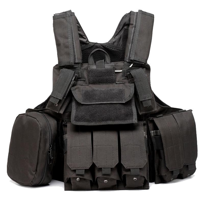 Gilet d'armure de Combat de transporteur de plaque de frappe de gilet Molle tactique avec des poches d'accessoires