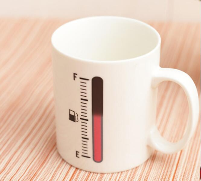 350ml Thermometer Ceramic Mug Magic Coffee Mug Tea Cup Furniture Accessories adult helmets for harley motorcycle retro half cruise helmet motorcycle helmet vintage german motorcycle moto