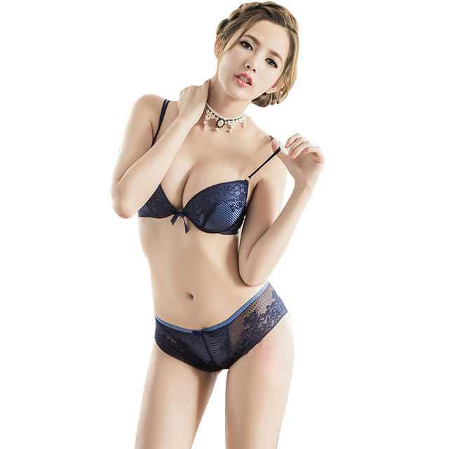 0fa66966657c9 Hot Fashion Brand European 6 Color Lace Mesh Ladies Underwear Embroidery  Charm Bra Push Up Bra Briefs Sets With Free Shipping ST