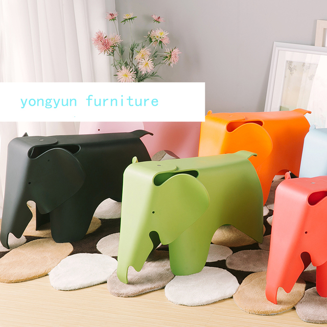 Kids Elephant Chair Baby Elephant Plastic Chair Toy Stool Modern Designed  Children Minimalist Modern Elephant Chair