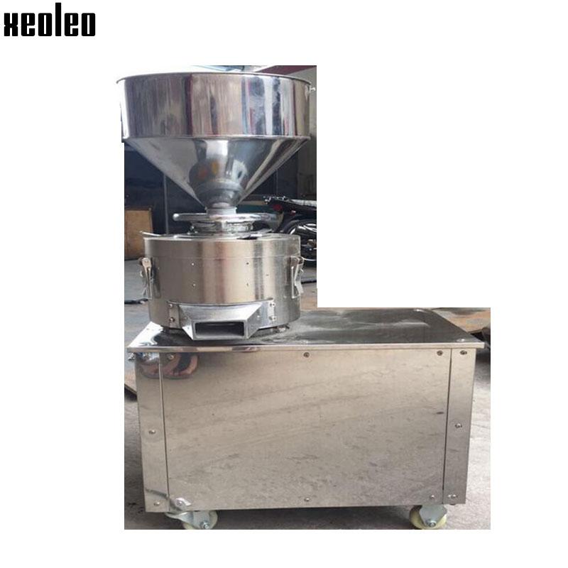 Xeoleo Peanut butter machine Sesame butter maker 15kg/h Peanut butter maker 220V 2800W Refiner stainless steel Grinding machine peanut butter machine nuts butters maker