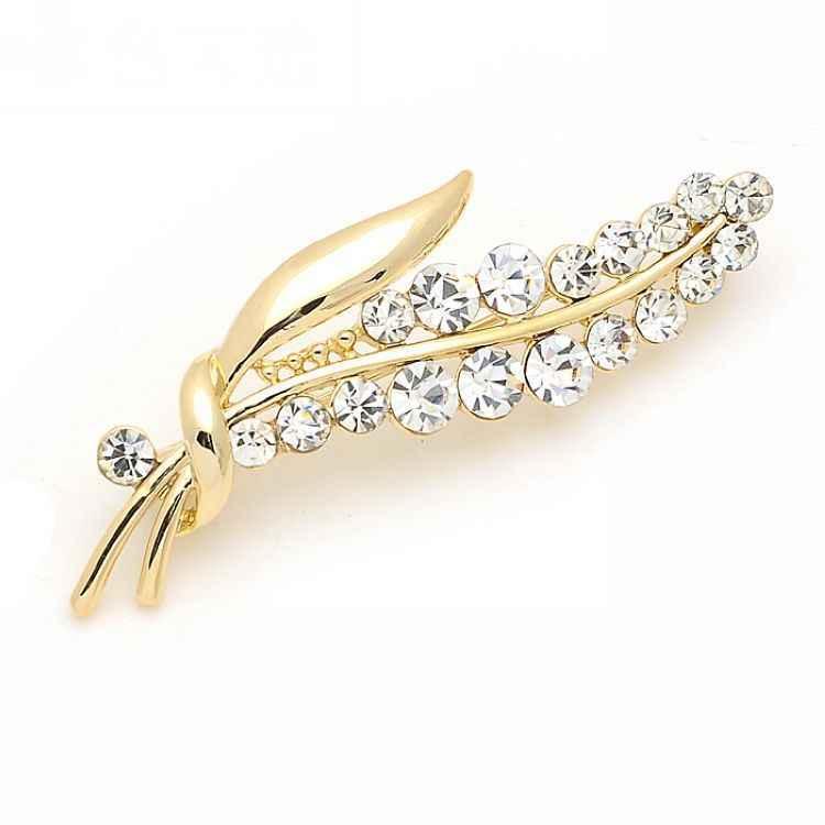 เกาหลีอารมณ์หรูหรา Rhinestone ช่อดอกไม้ใบเข็มกลัด Elegant PIN และชุดสูทเข็มกลัด Pin เครื่องประดับ
