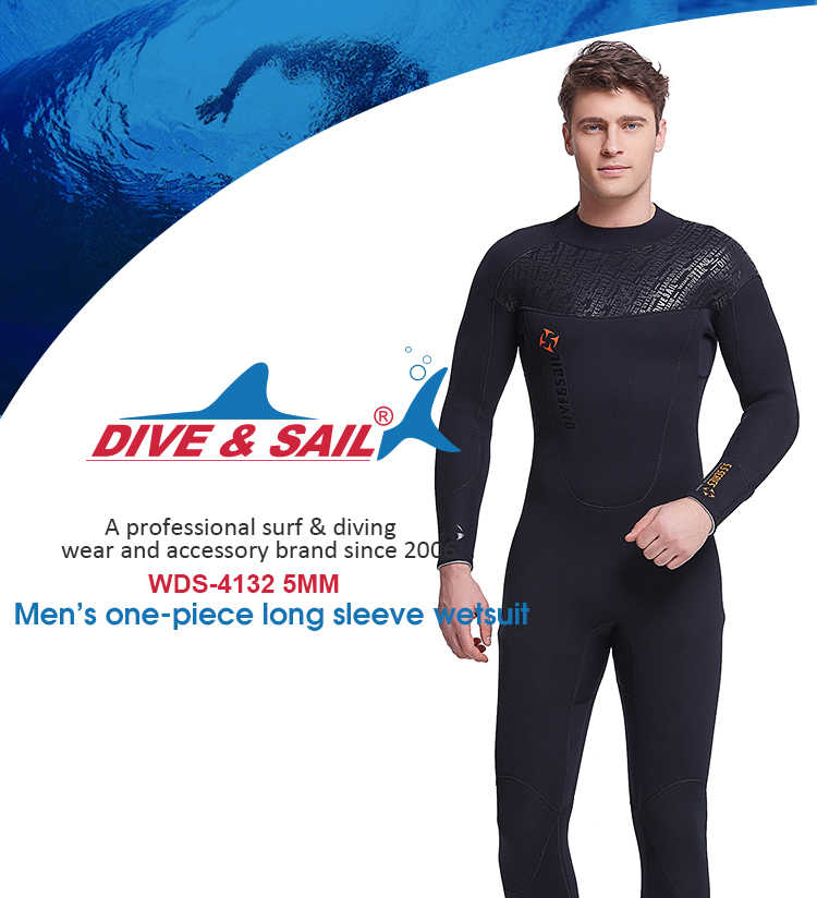 a91288bab36 ... new 3mm Neoprene Wetsuit Women Men Scuba Diving Suit High Elastic Snorkeling  long sleeve Swimwear Sailing ...