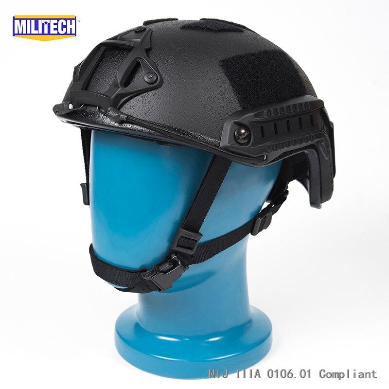 Schutzhelm Iso Zertifiziert Militech Aor1 Deluxe Zifferblatt Nij Level Iiia 3a Schnelle High Cut Kugelsichere Aramid Ballistischen Helm Mit 5 Jahre Garantie Sicherheit & Schutz