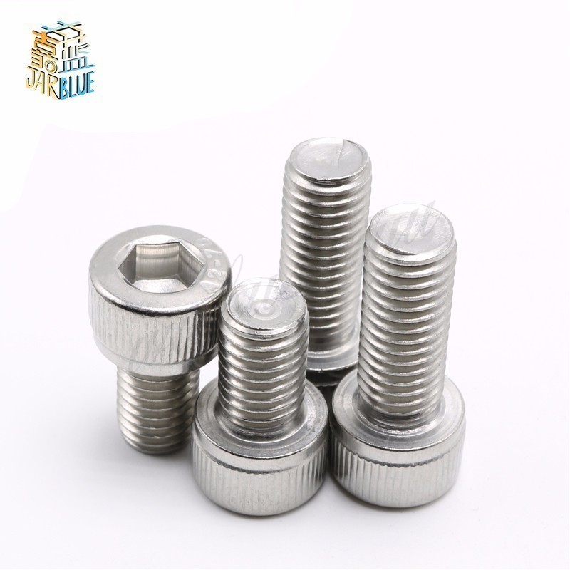 50Pcs M2*4mm/6mm/8mm/10mm/12mm/16mm/20mm/25mm/30mm Stainless Steel M2 Screws Allen Hex Socket Head Screw Bolt Furniture Fastener