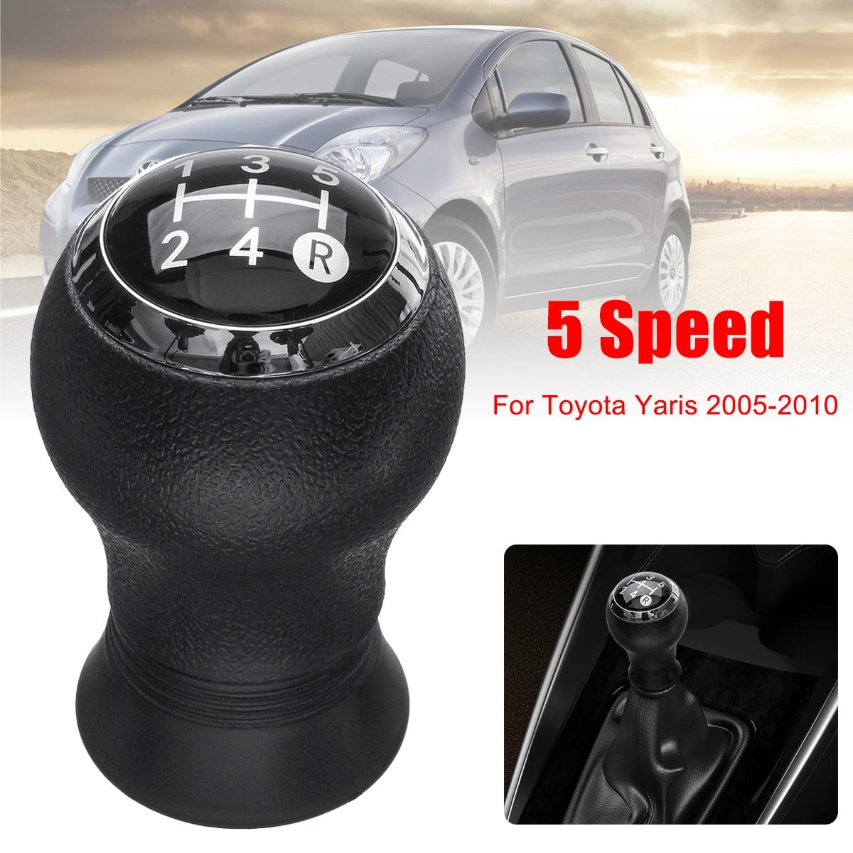 Para Toyota Yaris 2005-2010 5 velocidad MT Car Gear Shift Knob Head Gear Knob cubierta Shifter palanca