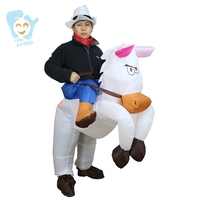 Halloween Carry On Inflatable Cowboy Ride On Horse Costume Venice Carnival Cosplay Fancy Party Dress Suit