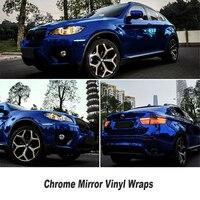 High Stretchable Waterproof UV Protected Dark Blue Chrome Mirror Vinyl Wrap Sheet Roll Film Car Sticker