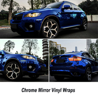 High Stretchable Waterproof UV Protected Dark Blue Chrome Mirror Vinyl Wrap Sheet Roll Film Car Sticker