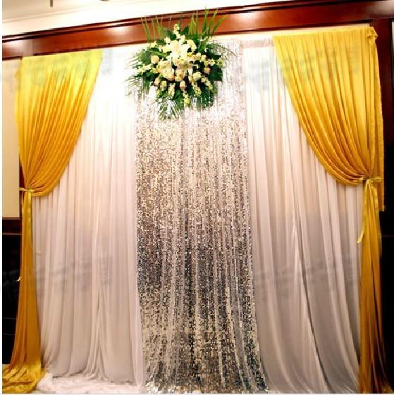 3 3m Wedding Reception Desk Backdrop Props New Stage Background Sequin Curtain Ie Silk Sign