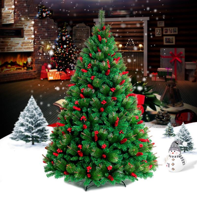 Christmas Tree Needles: 2.1 M / 210cm Pine Needles Encryption Red Christmas Tree