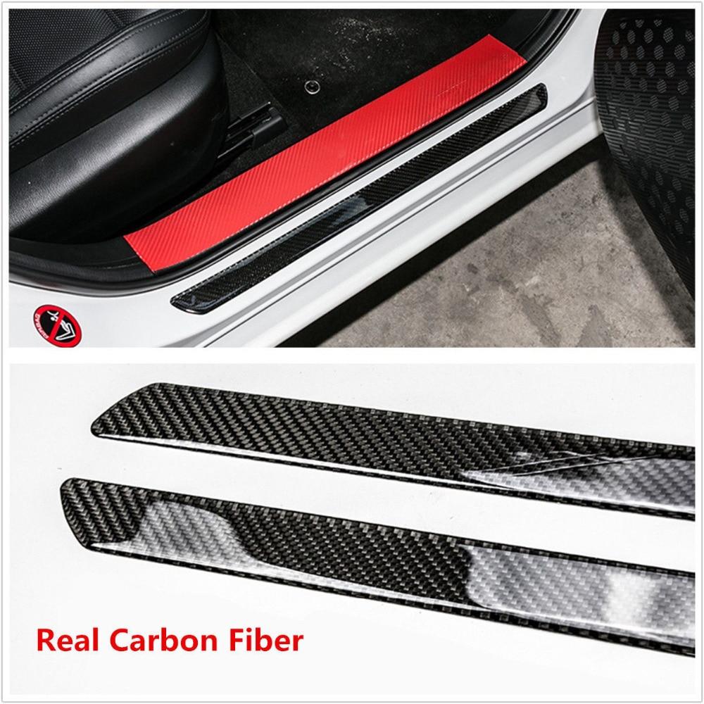 4PC Car Door Sill Threshold Scuff Plates Trim For Nissan Qashqai J11 2015-2019