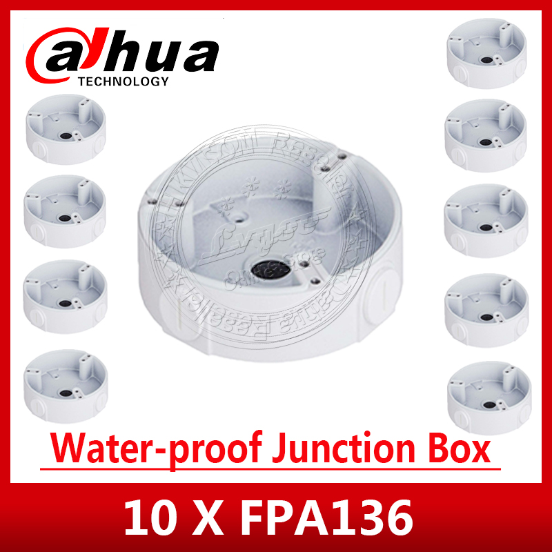 Express Shipping 10PCS/Lot Dahua PFA136 Waterproof Junction Box For IPC-HDW4433C-A  IPC-HDW4233C-A CCTV POE Camera