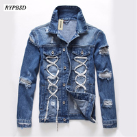 Spring Autumn 2017 New Men Denim Jackets Men Coat Korean Fashion Casual Winter Jeans Jacket Ripped