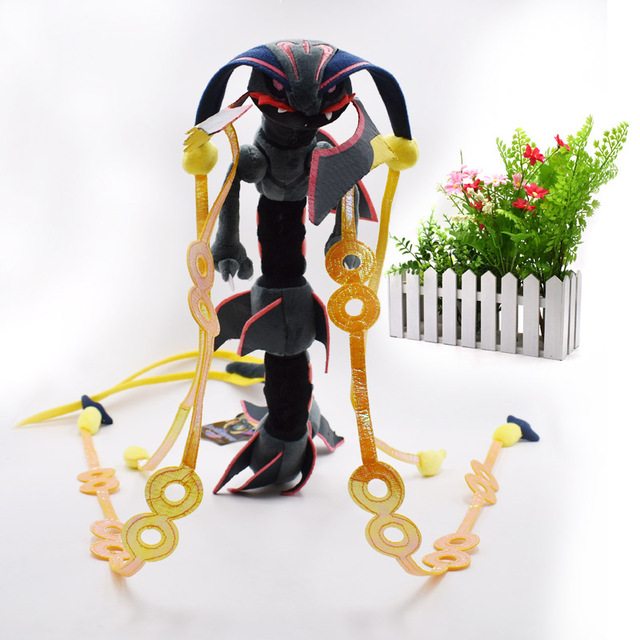 4 styles Mega Rayquaza Black Rayquaza Animal Plush Peluche Doll With Skeleton Soft Stuffed Hot Toy  Gift For Children