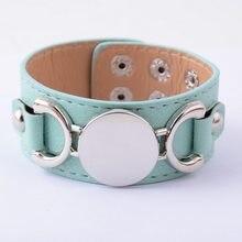 Rainbery monograma pulseira de couro moda jóias pulseras 3 linha multicolorido pulseira de couro para mulher masculino