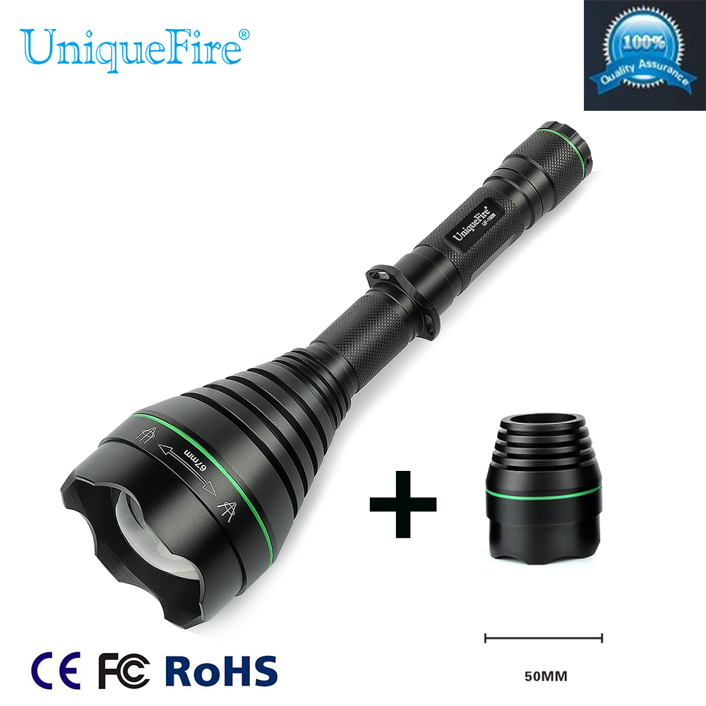 IR Led Flashlight UniqueFire1508-67mm 940NM Lamp Torch+Replaceable 50mm Lens For Hunting Free Shipping new product for hunting uniquefire black flashlight 1508 67mm 940nm ir led torch for outdoor night hunting free shipping
