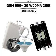 Дб ЖК-Дисплей GSM 900 3 Г 2100 мГц Dual Band Ретранслятор GSM 3 Г UMTS Сотовый Телефон Усилитель 3 Г WCDMA 2100 Сотовой Мобильной Booster