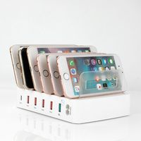 QC 3,0 USB зарядное устройство 5 портов usb зарядная станция Док-станция настольная подставка мульти порт зарядное устройство для телефона iPhone 7 ...