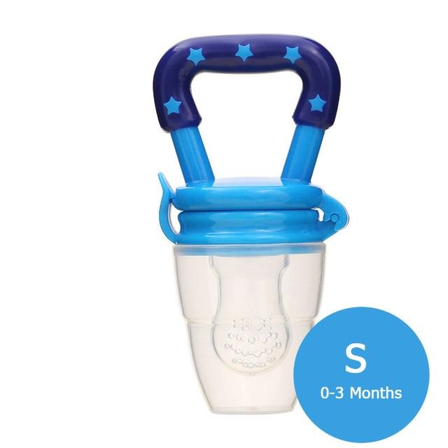 1 шт. свежий Ниблер для кормления ребенка соска для кормления дети фрукты Фидер соски Кормление безопасные детские принадлежности сосок соска бутылки - Цвет: blue S