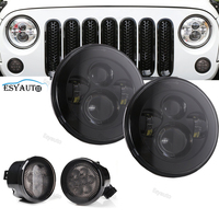 Smoke Front Turning light Auto Led Lighting Driving Offroad Lamp Front Bumper Lighting + 7 inch Led 45W headlight for Jeep