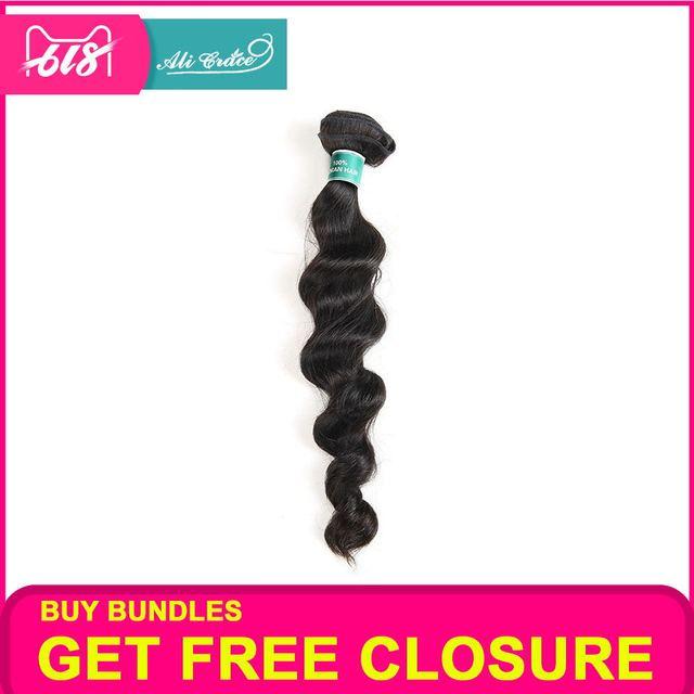 ALI GRACE cabello brasileño onda suelta 1 paquetes 3 paquetes 4 paquetes disponibles 100% extensiones de cabello humano Remy tejido de cabello paquetes