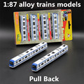 1:87 alloy trains models,high simulation subway vehicle model,pull back function,toy vehicles,educational toys,free shipping