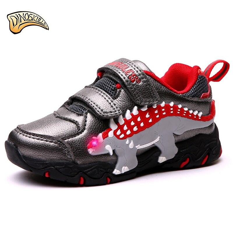 Dinoskulls 2018 Children's Shoes LED Light Up Shoes Boys ...