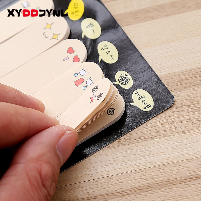 XYDDJYNL Cute Fingers Memo Pad Notes Paper Kawaii School Supplies Creative Stationery Bookmark Sticky Stickers