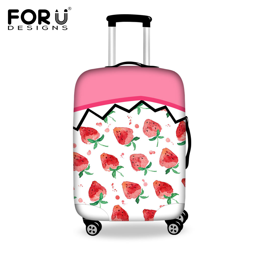FORUDESIGNS 3D Fruit Prints Luggage Protective Cover For 18-30inch Trunk Case Waterproof Anti-dust Rain Suitcase Cover Elastic