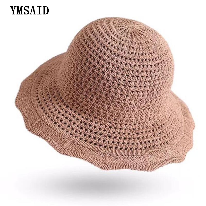 414c8ff3d HT2219 Bucket Hats Vintage Retro Plaid Women Hats Ladies Foldable ...