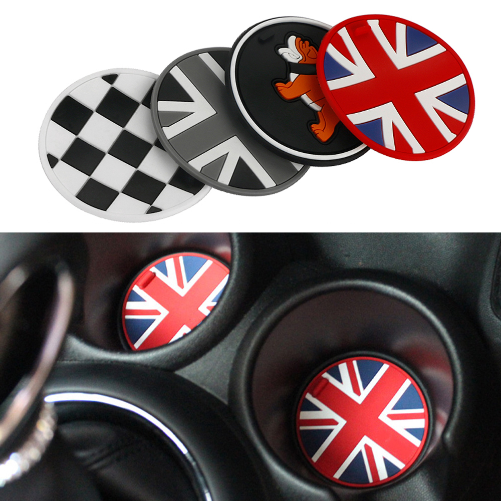 Jack Union Silica Gel Anti-slip Car Cup Mat Pad Coaster For Mini Cooper One+ S Clubman Countryman R55 R56 R60 R61 F56 F55 F60 игрушка motormax gt racing mini cooper s countryman 73773