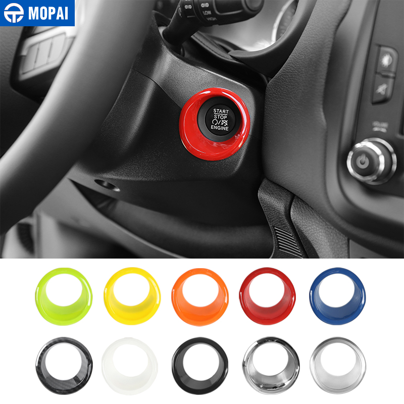 MOPAI ABS Car Engine Start Stop Ignition Key Ring Interior Decoration Stickers Accessories For Jeep Renegade 2015+ Car Styling
