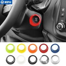 MOPAI ABS двигатели для автомобиля Start Stop ключ зажигания кольцо Внутренние Декоративные наклейки интимные Аксессуары Jeep Renegade 2015 + стайлинга автомобилей