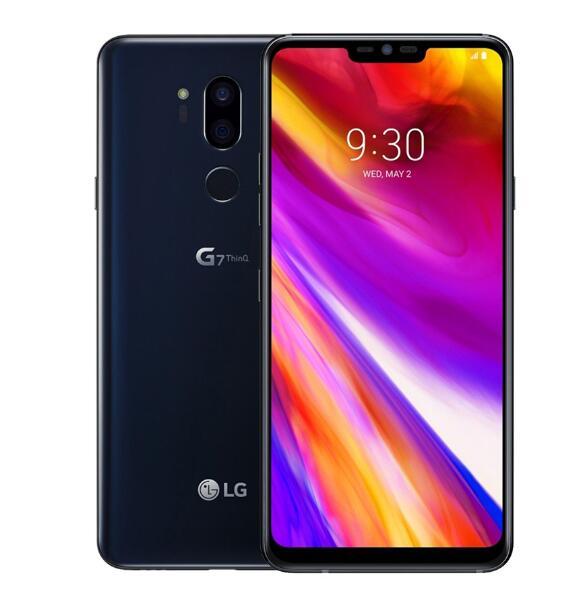 Разблокированный мобильный телефон LG G7 ThinQ G710V/N/U 6,1 дюйма 4 Гб+ 64 Гб/6G+ 128 Гб Snapdragon845 двойная задняя камера LTE отпечаток пальца - Цвет: black