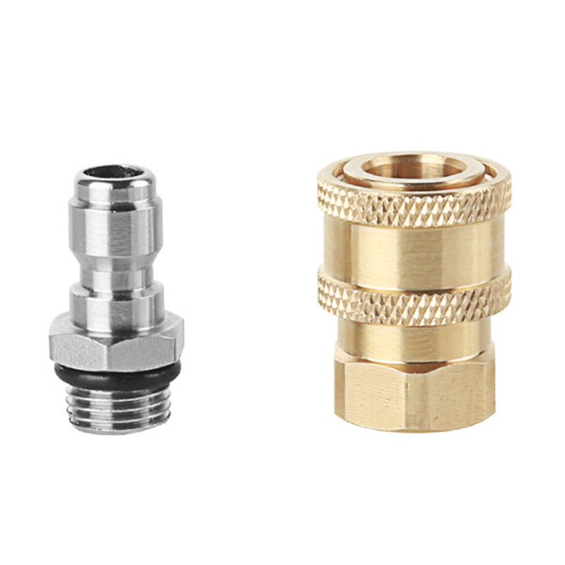 2 Kit Pressure Washer Quick Connect M22//14 to 1//4 Male Pipe Connector Brass