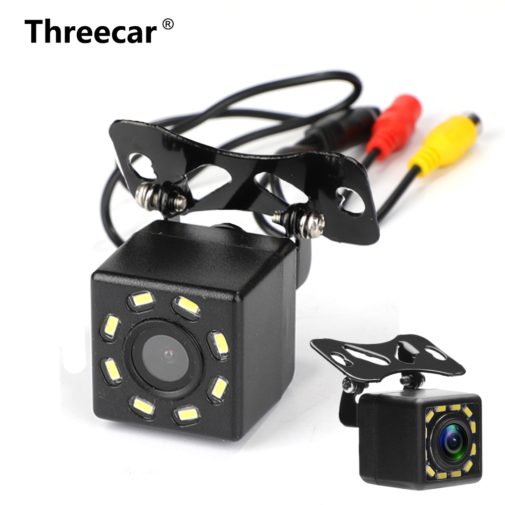 Auto Achteruitrijcamera Universal 12 Led Nachtzicht Backup Parkeergelegenheid Reverse Camera Waterdicht 170 Groothoek Hd Kleur Afbeelding