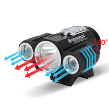 T6 LED Cycling Bike Bicycle Light Head front Light flash light with 18650 battery set