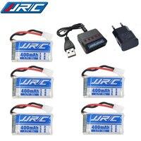 Lipo bateria 3.7v 400 mah 30c para jjrc h31/jjrc h43hw zangão li-bateria jjrc h31 lipo bateria + (5in1) cabo carregador 3/4/5 peças